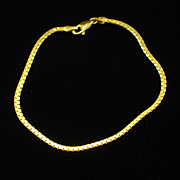 SALE Estate 999.9 24K Fine Gold Italian Bracelet