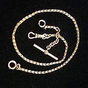 SALE Victorian Hamilton & Hamilton Ornate Link Watch Chain