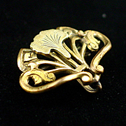 SALE Victorian Lily and Scrolls Watch Pin