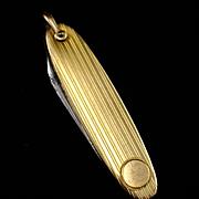 SALE A&Z Chain Co. Retro Pen Knife Watch Fob