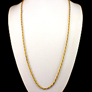 """Gorgeous Heavy 32"""" Gold Filled Rope Chain"""