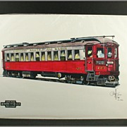 John Lass Signed Print #423 High Speed Interurban Rail Car