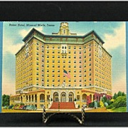 Linen Post Card of The Baker Hotel in Mineral Wells Texas 1947