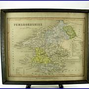 Joshua Archer Pembrokeshire Map C. 1847 Dugdales