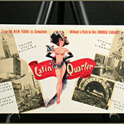 Lou Walters Latin Quarter Post Card Call Circle 6-1737