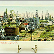 M. Rieder Post Card No. 104 Oil Wells, Los Angeles, Cal.