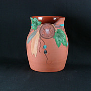 Hand Thrown Southwestern Motif Pottery Vase Signed