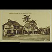 Vintage Hawaiian Post Card The Waikiki Tavern And Inn Honolulu