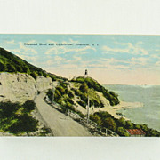 Island Curio Company Diamond Head and Lighthouse Post Card