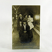 SOLD Billy Sunday Real Photo Post Card Circa 1907 With Family