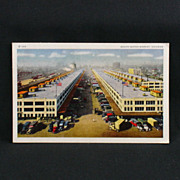 A.C. CO. White Border Post Card of South Water Market, Chicago