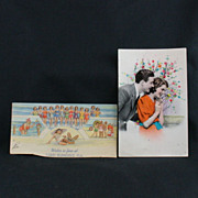 WWII Vintage Post Card Sent From Sicily via U.S Army Postal Service