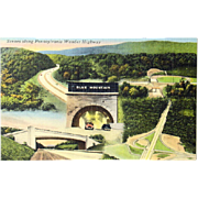 Tichnor Quality Views Pennsylvania Turnpike Linen Cards (8)