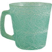 Colorcraft Spaghetti or String Glass Mug in Green