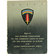 SALE Eisenhower Report by The Supreme Commander