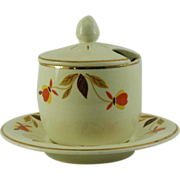 Hall China Mustard and Under Plate