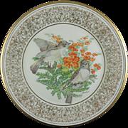 Lenox Boehm Birds Eastern Phoebes 1981 Plate (NOW ON SALE)