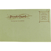 SALE Undivided Back Post Card of Schenley Park Panther Hollow