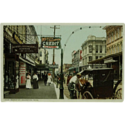 SOLD Galveston Texas Market Street Detroit Publishing Phostint