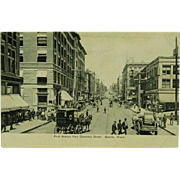 Seattle Washington Collotype Post Card of First Avenue