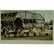 Mardi Gras The Royal Chariot With Rex Phostint Post Card