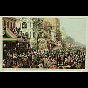 New Orleans Mardi Gras Phostint Detroit Publishing Company