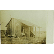 Real Photo RPPC of Homesteaders Cabin Near Portales, New Mexico