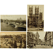 London England Vintage Collotype Post Cards