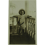 Real Photo Post Card Young Boy on Velox Paper