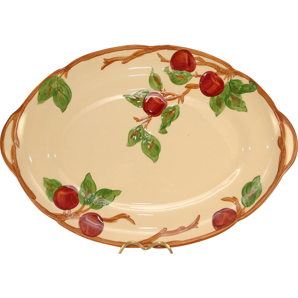 Franciscan Ware Apple 19 Inch Oval Platter Ca. 1953-58