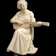 Bing & Grondahl Woman Playing Guitar 1684  SIGNED