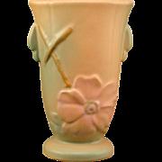 "Weller Pottery Wild Rose 6 1/2"" Vase Ca. 1933"