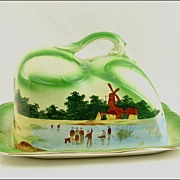 Empire Works Stoke on Trent Cheese Dish Artist Signed