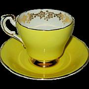 Paragon - Yellow w/ Golden Vine - Teacup Set