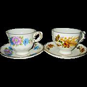 SALE Queen Anne - Vintage Teacup Sets (2)