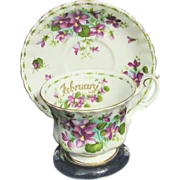 Royal Albert - Flower of the Month  February Teacup Set