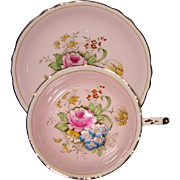 Paragon - Rose Bouquet on Pink - Teacup Set
