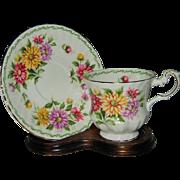 Queens - Aster Flowers - Teacup Set