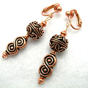 Free Shipping: Infinity Copper Clip-On Earrings, 2 Inches