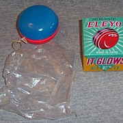 Vintage Eleyo Battery Operated Glowing Yo-Yo with Box 1960's