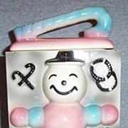 Vintage America Bisque Pottery Ungemach Puppets Cookie Jar