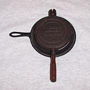 Vintage Cast Iron Stover Junior Child's Waffle Iron