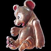 1940's Teddy Bear Figural Pin Book Piece
