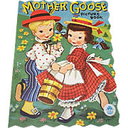 Vintage Mother Goose Picture Children's Book