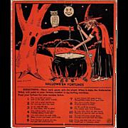 SOLD Vintage Halloween Fortunes Game