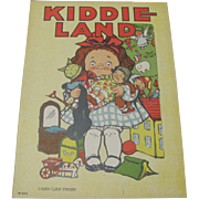 Kiddie Land Children's Book Illustrated by Grace Wiederseim