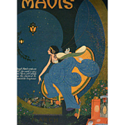 Art Deco March 1920 Vivaudou Mavis Perfume Ad by Fred Packer