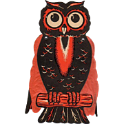 SOLD Halloween Die-Cut Owl Folding Tissue Paper Wings