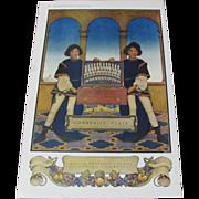 1918 Maxfield Parrish Oneida Community Plate Advertisement