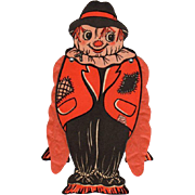 SOLD Halloween Die-Cut Scarecrow Folding Tissue Paper Arms